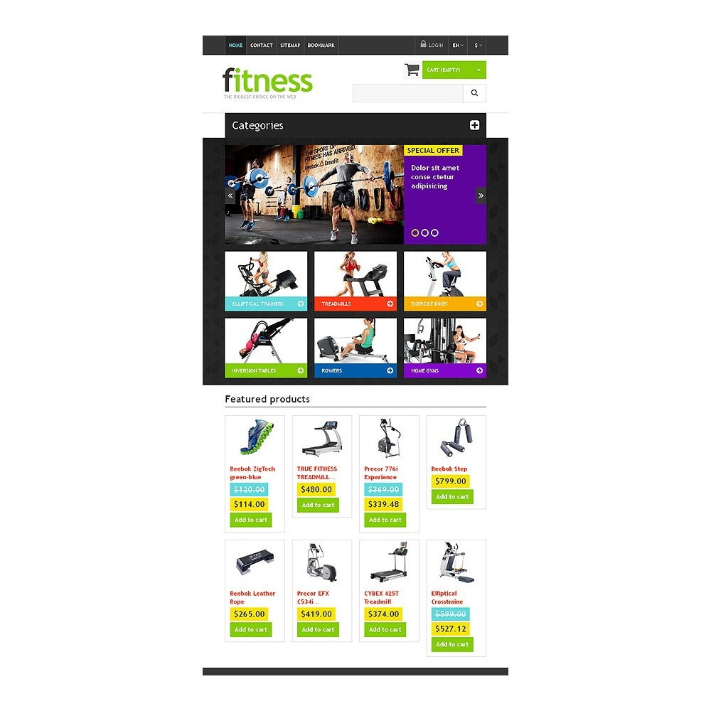 theme - Sport, Loisirs & Voyage - Responsive Fitness Store - 7