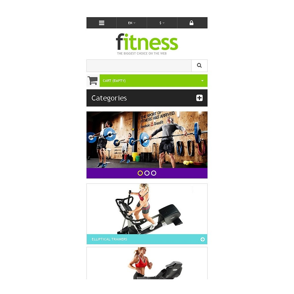theme - Deportes, Actividades y Viajes - Responsive Fitness Store - 8