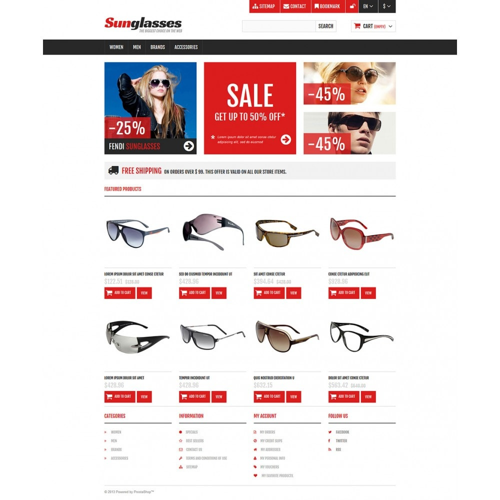 theme - Fashion & Shoes - Responsive Sunglasses Store - 2