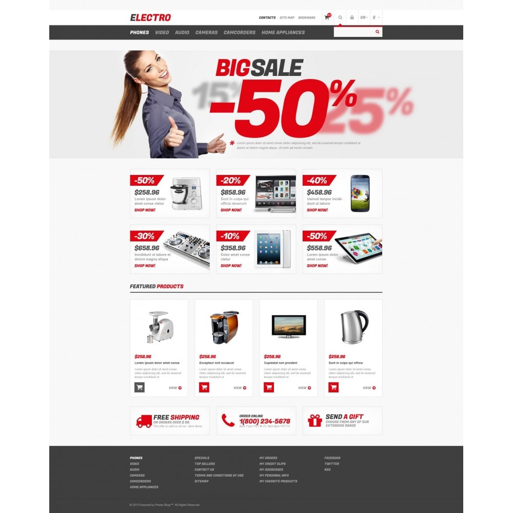theme - Elektronika & High Tech - Responsive Electro Store - 4