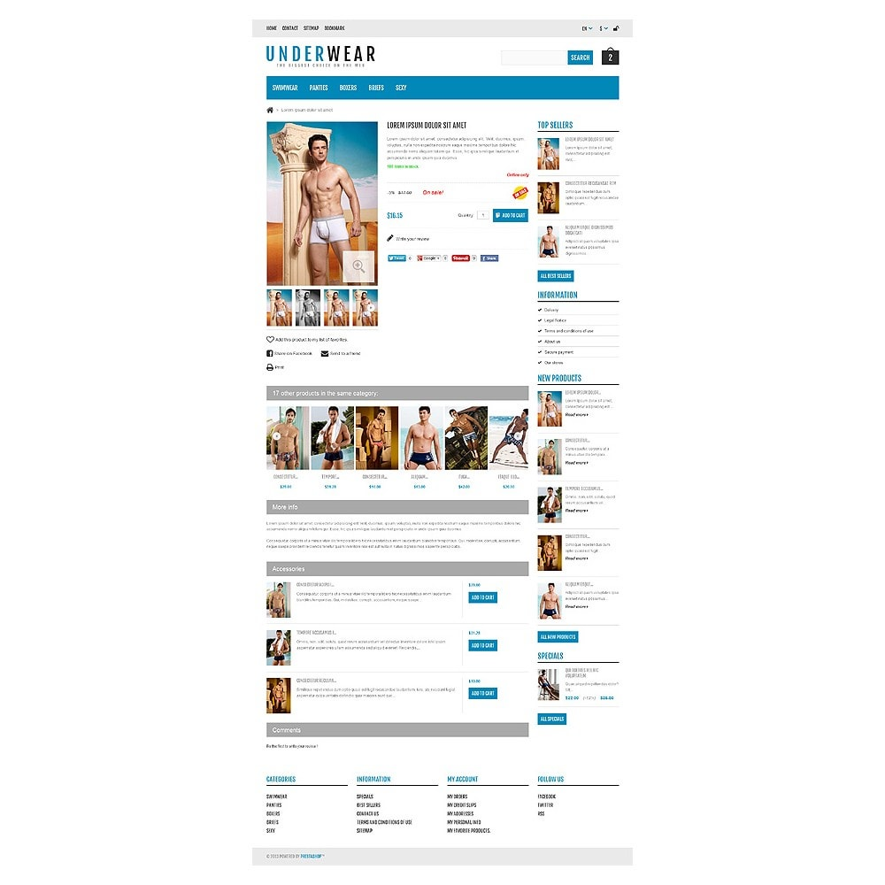 theme - Fashion & Shoes - Responsive Underwear Store - 6