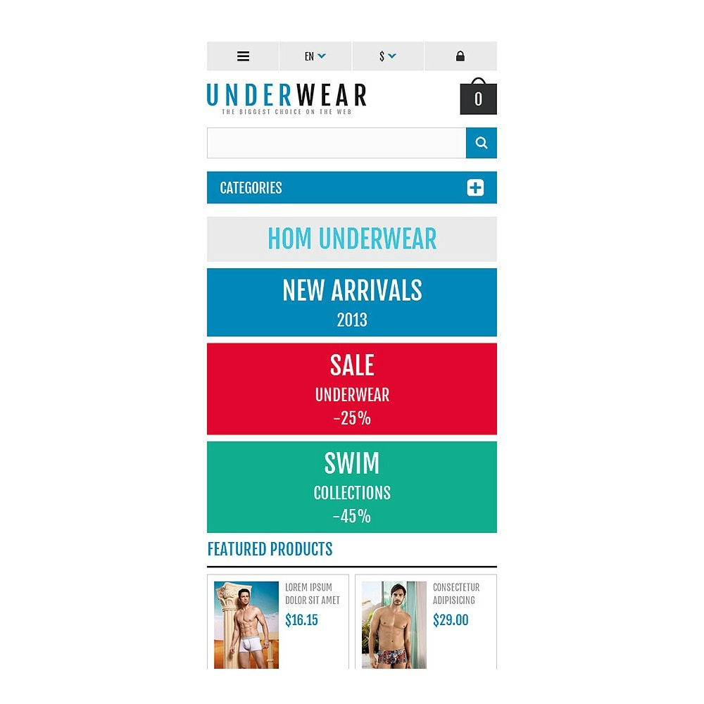 theme - Fashion & Shoes - Responsive Underwear Store - 8