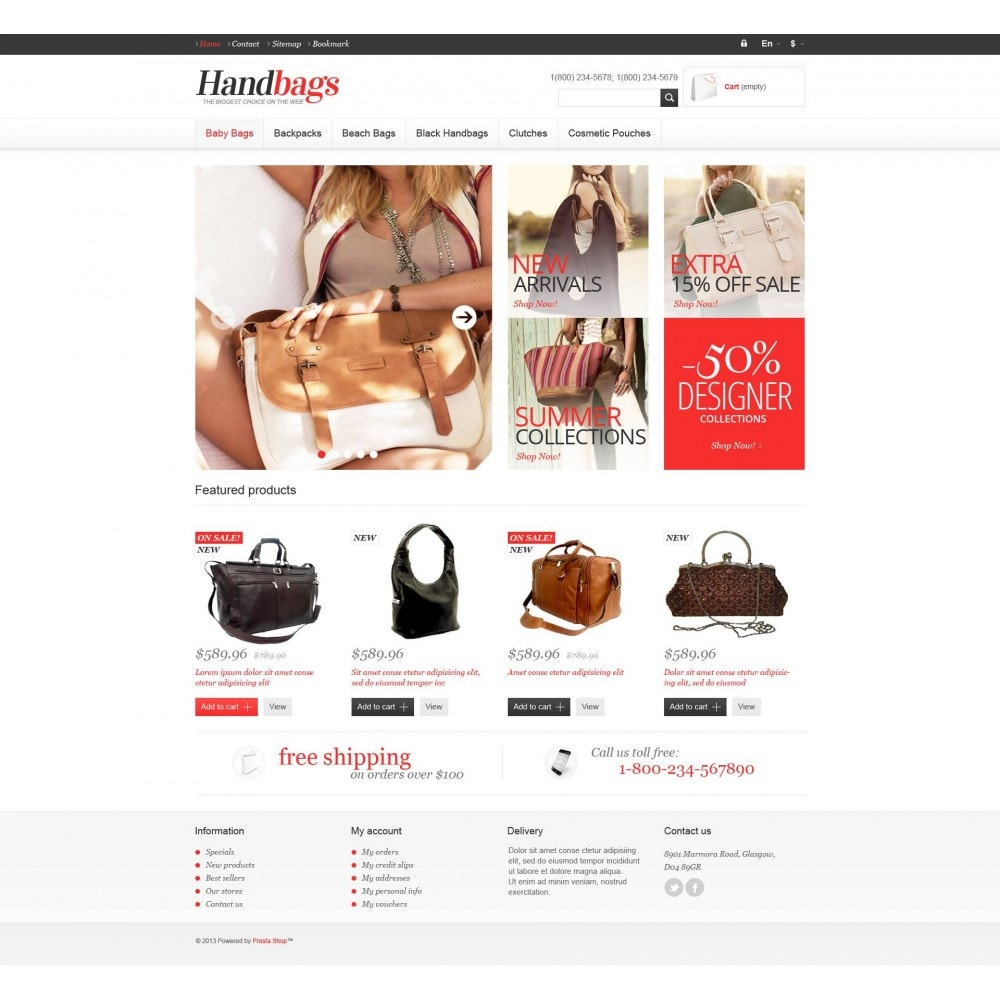 theme - Mode & Chaussures - Responsive Handbags Store - 4