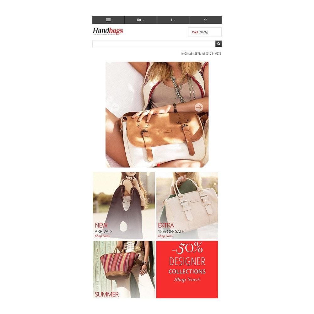 theme - Fashion & Shoes - Responsive Handbags Store - 8