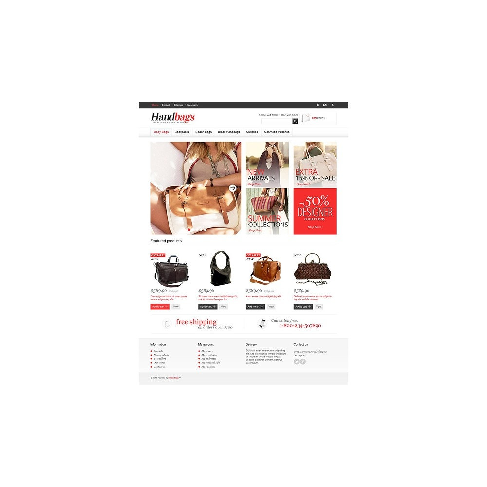 theme - Fashion & Shoes - Responsive Handbags Store - 10