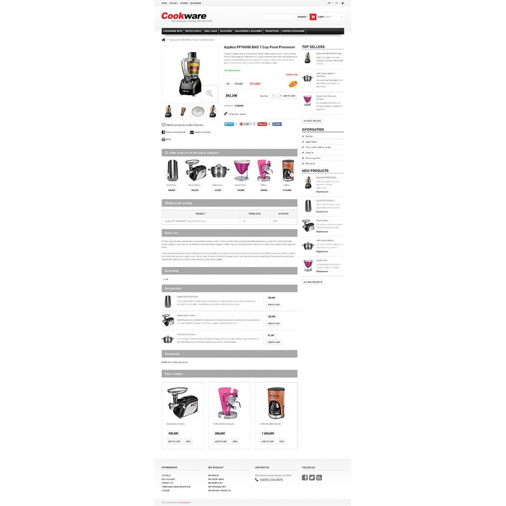 theme - Art & Culture - Responsive Cookwear Store - 6