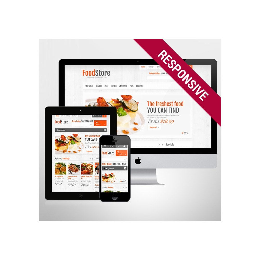 theme - Food & Restaurant - Responsive Food Store - 1
