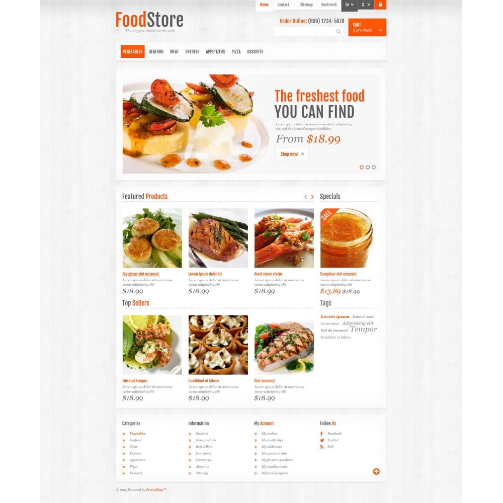 theme - Alimentation & Restauration - Responsive Food Store - 4