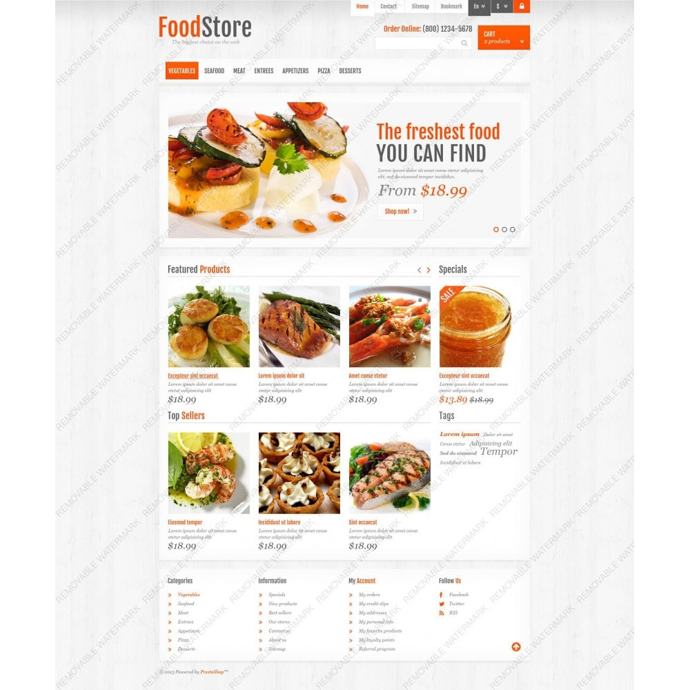 theme - Alimentation & Restauration - Responsive Food Store - 5