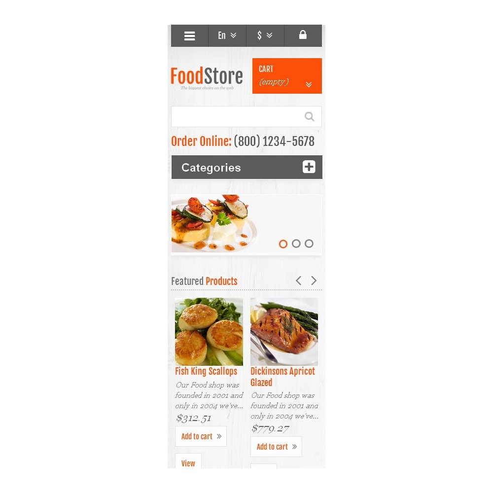 theme - Alimentation & Restauration - Responsive Food Store - 9