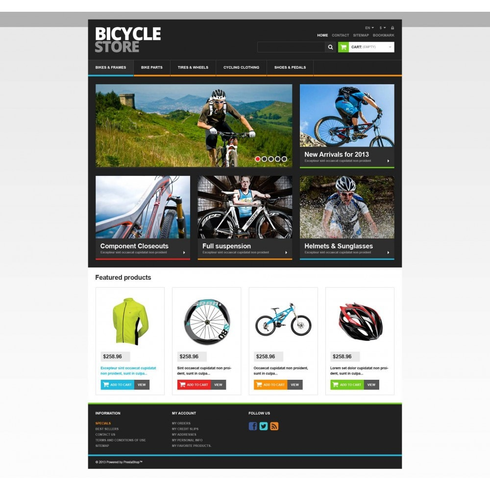 theme - Sports, Activities & Travel - Responsive Bicycle Store - 4