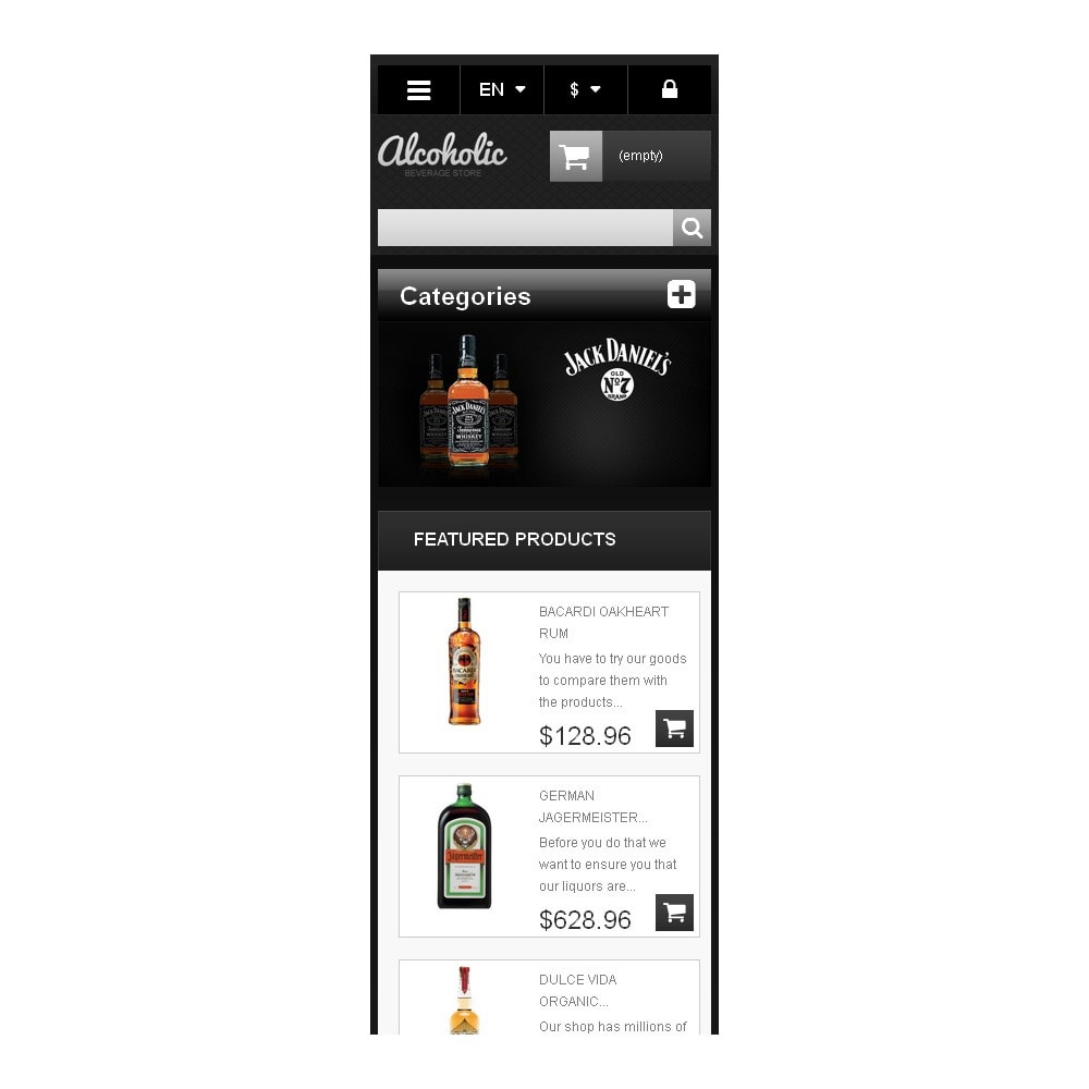 theme - Lebensmittel & Restaurants - Alcoholic Beverages Store - 10