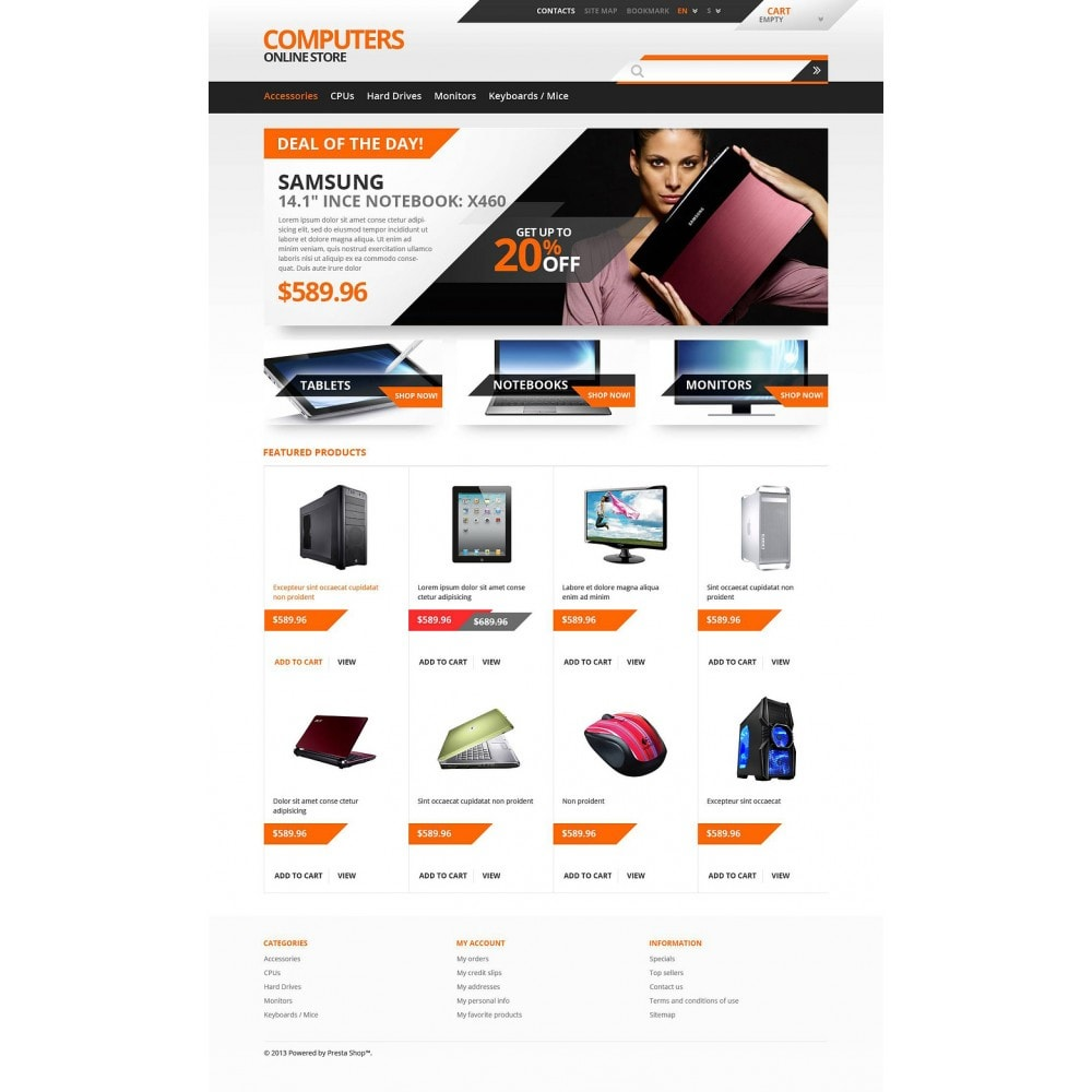 theme - Electrónica e High Tech - Responsive Computers Store - 2
