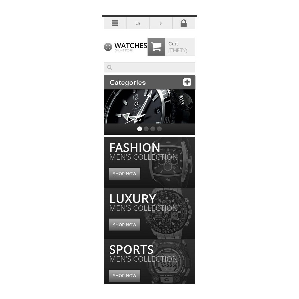 theme - Mode & Chaussures - Responsive Watch Store - 6