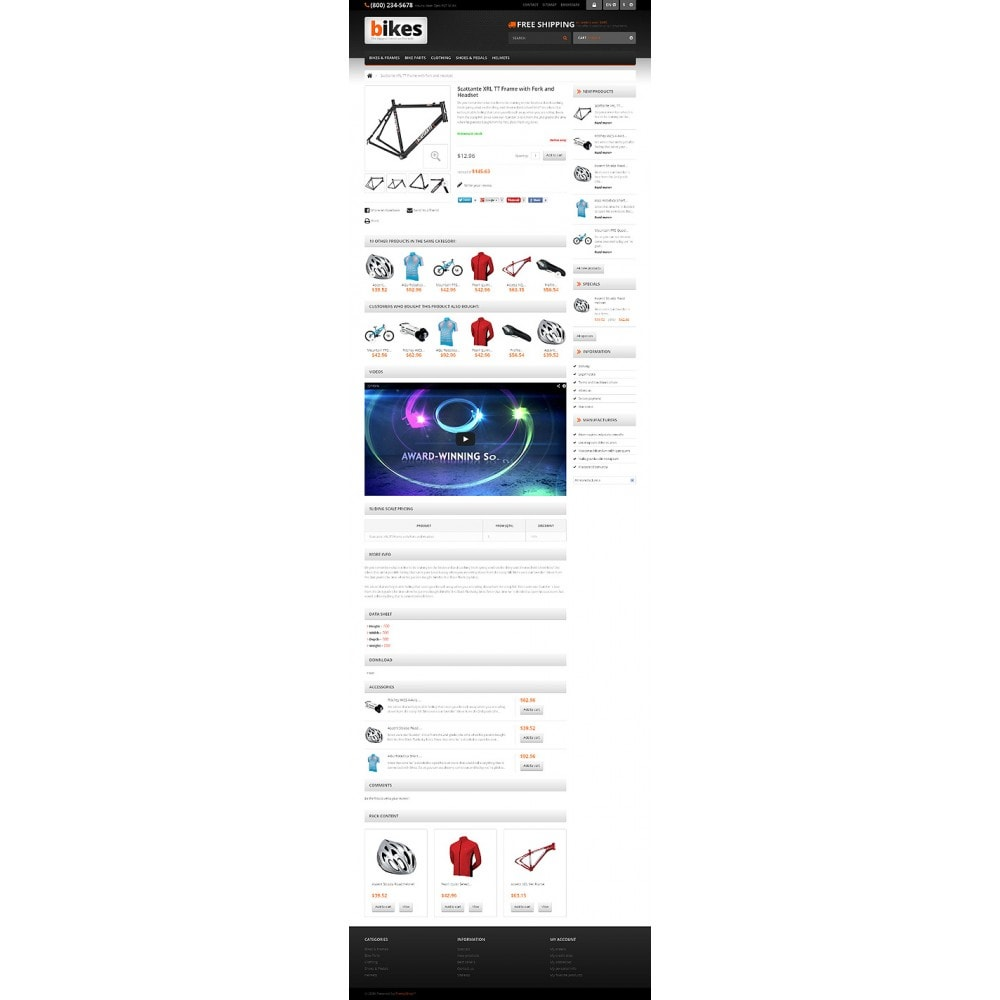 theme - Sport, Loisirs & Voyage - Responsive Bikes Store - 6