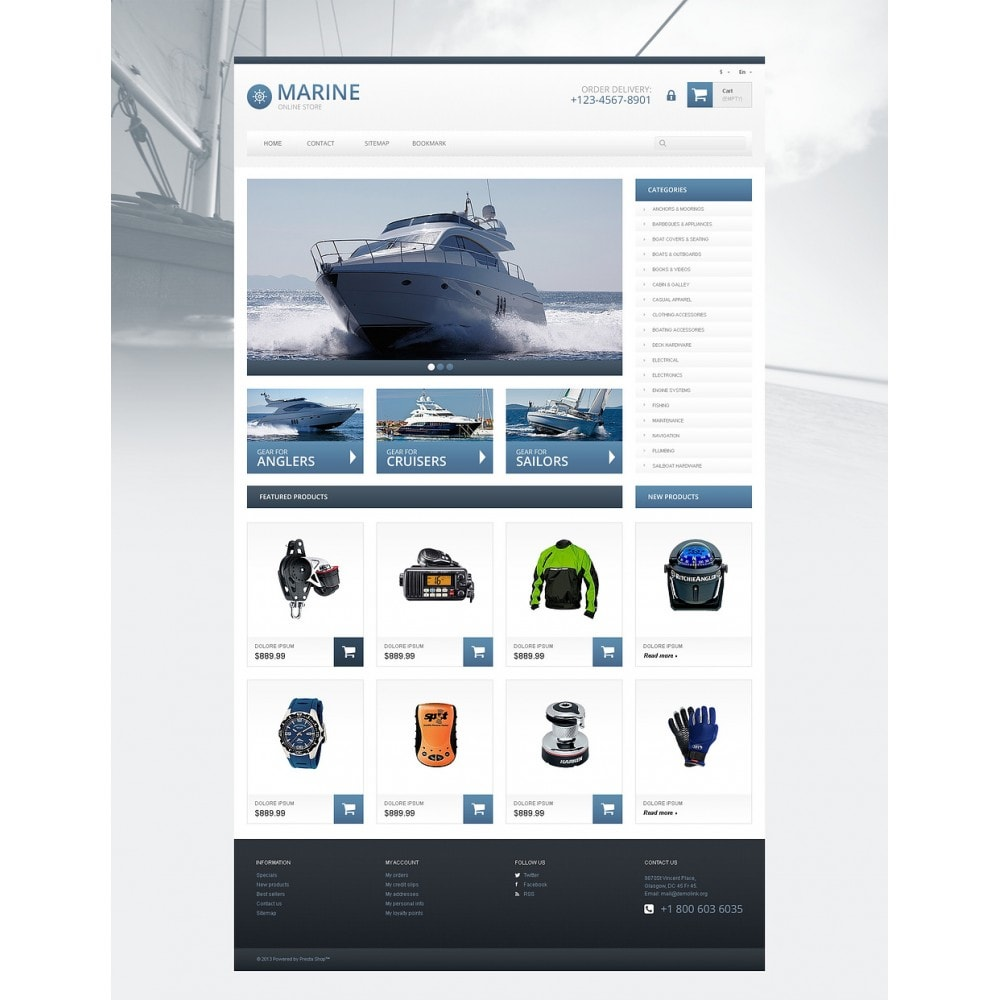 theme - Sports, Activities & Travel - Responsive Marine Store - 2