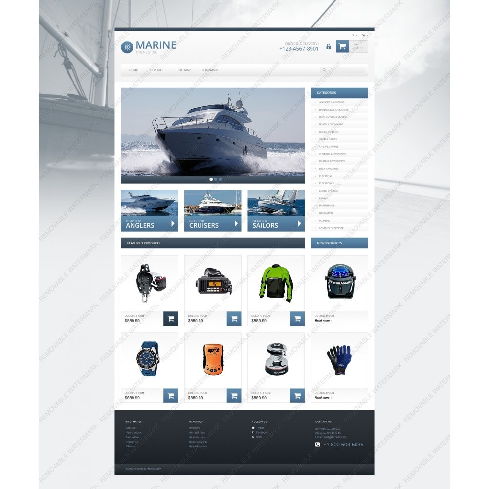 theme - Sports, Activities & Travel - Responsive Marine Store - 5