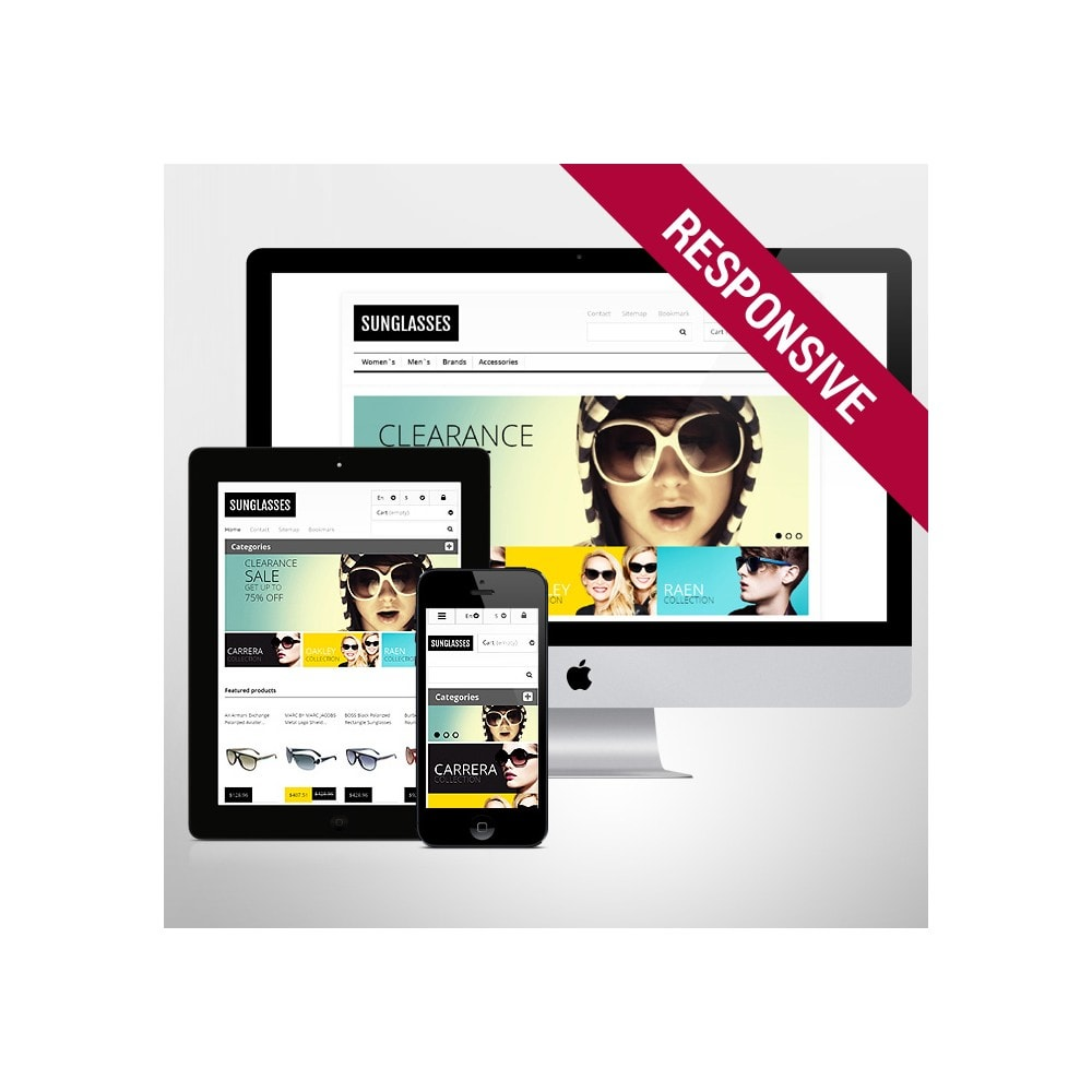 theme - Fashion & Shoes - Responsive Sunglasses Store - 1