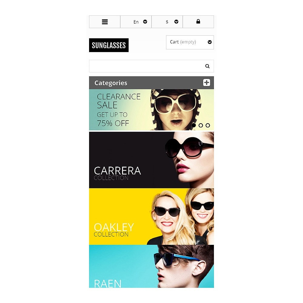 theme - Moda & Calzature - Responsive Sunglasses Store - 8