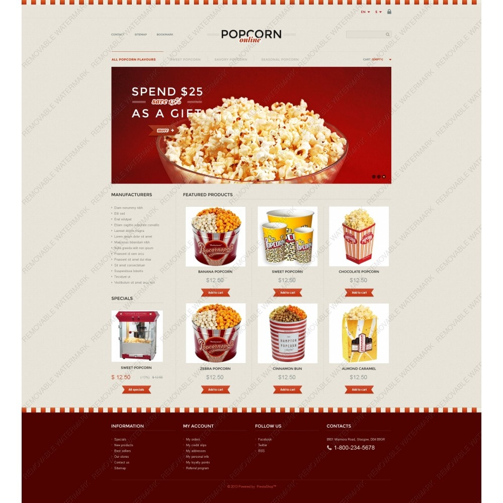 theme - Продовольствие и рестораны - Responsive Popcorn Store - 5