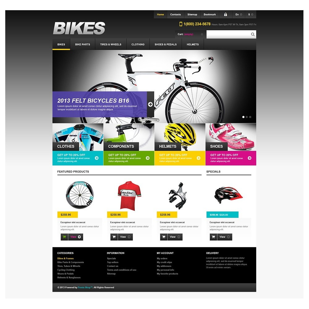 theme - Sport, Loisirs & Voyage - Responsive Bikes Store - 2