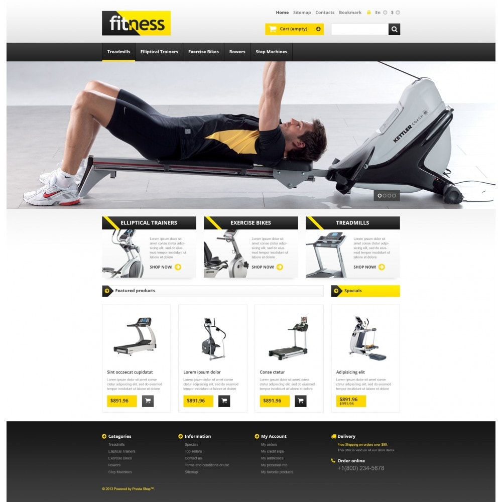 theme - Deportes, Actividades y Viajes - Responsive Fitness Store - 4