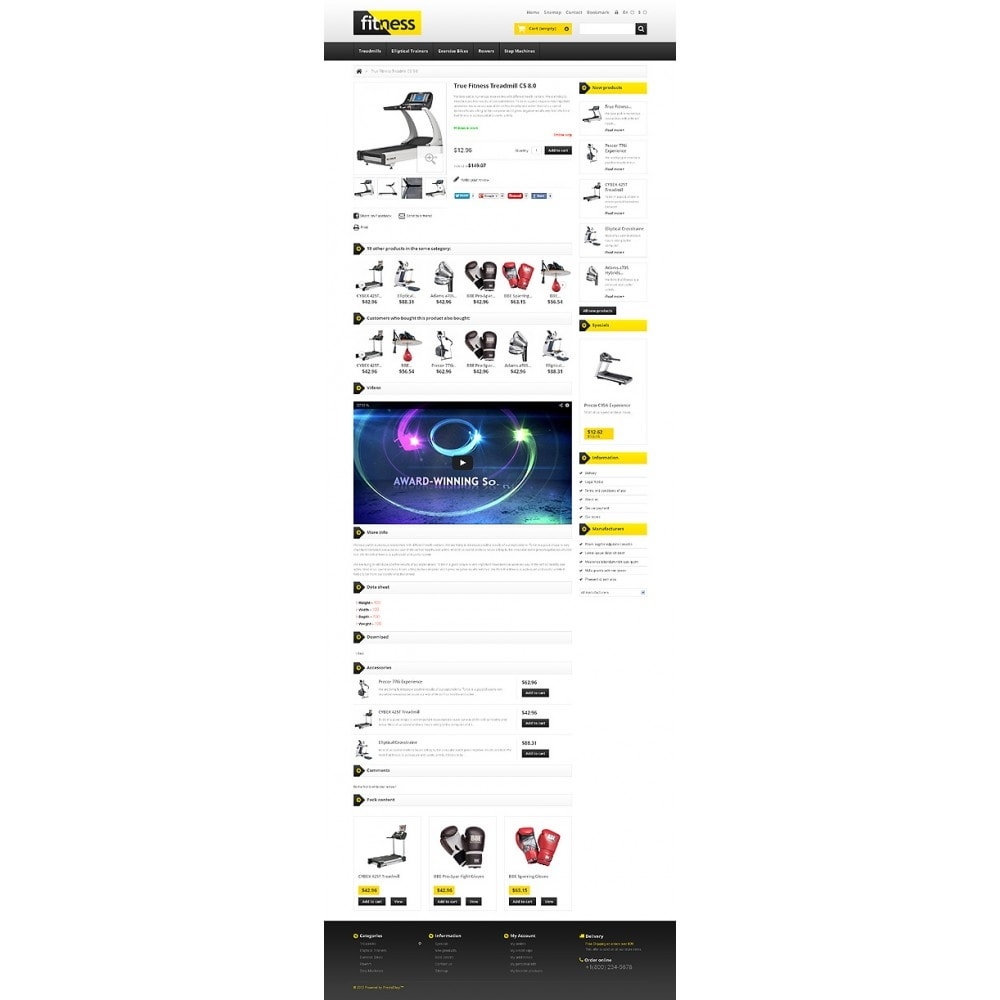 theme - Deportes, Actividades y Viajes - Responsive Fitness Store - 6