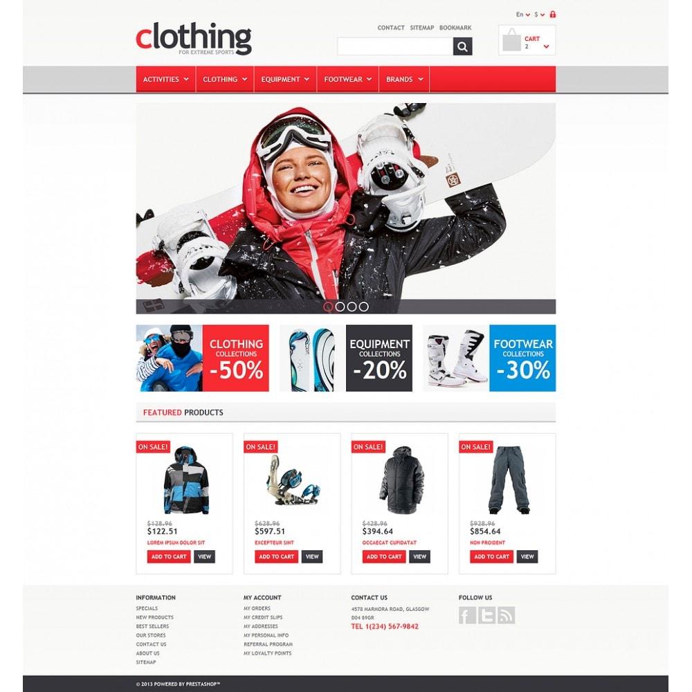 theme - Спорт и Путешествия - Responsive Clothing Store - 2