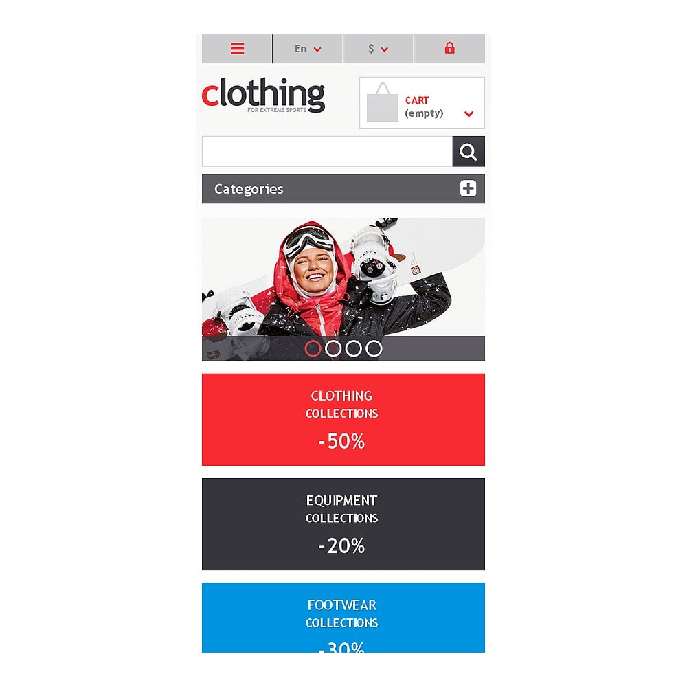 theme - Спорт и Путешествия - Responsive Clothing Store - 8