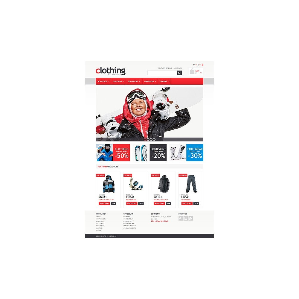 theme - Sports, Activities & Travel - Responsive Clothing Store - 10