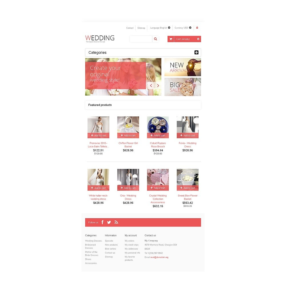 theme - Mode & Schuhe - Responsive Wedding Store - 7