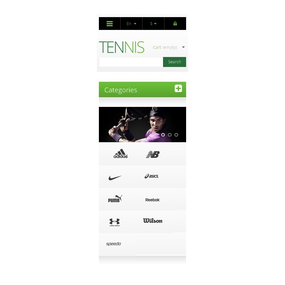 theme - Sports, Activities & Travel - Responsive Tennis Store - 9