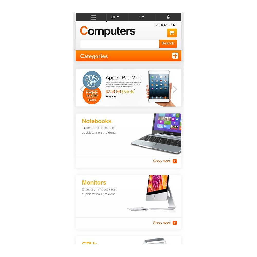 theme - Electrónica e High Tech - Responsive Computers Store - 8