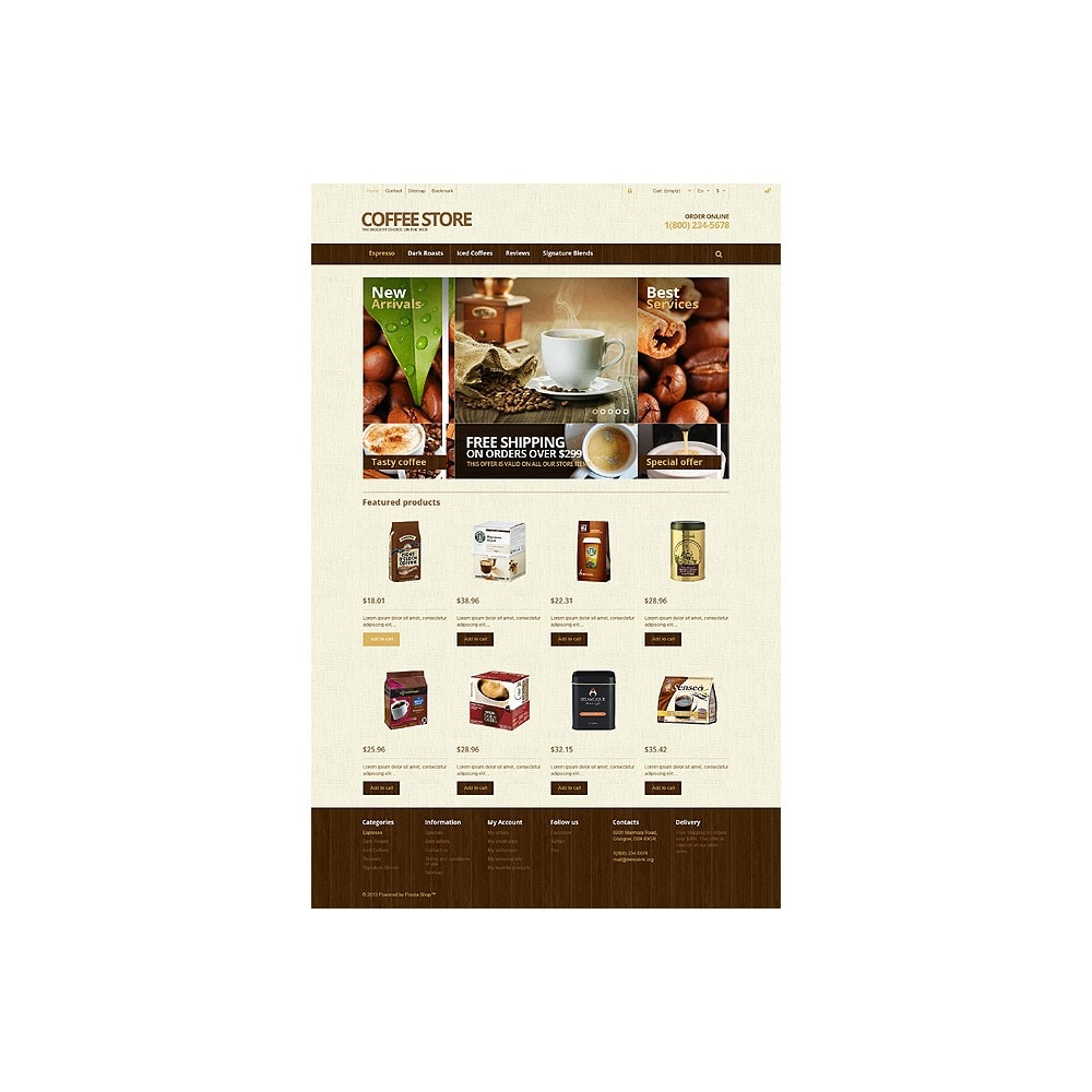 theme - Lebensmittel & Restaurants - Responsive Coffee Store - 10