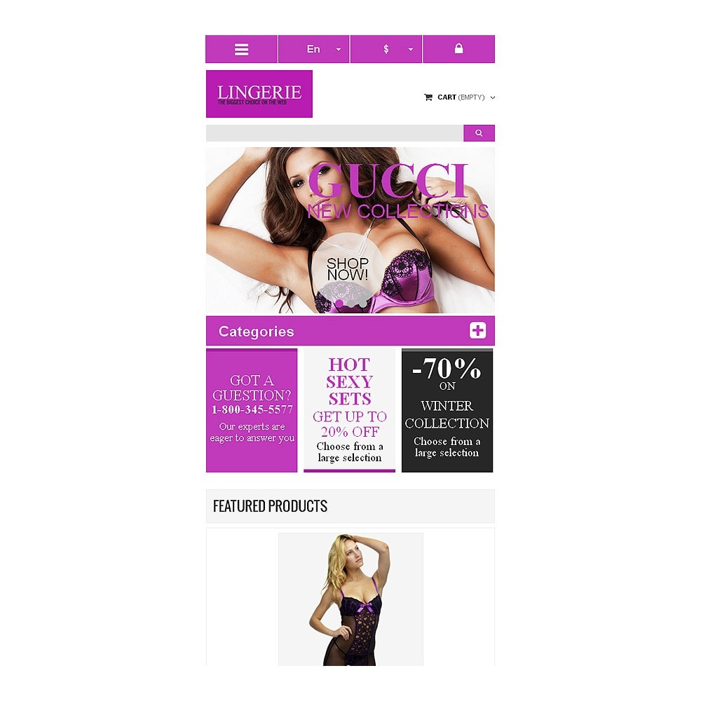 theme - Moda & Obuwie - Responsive Lingerie store - 8
