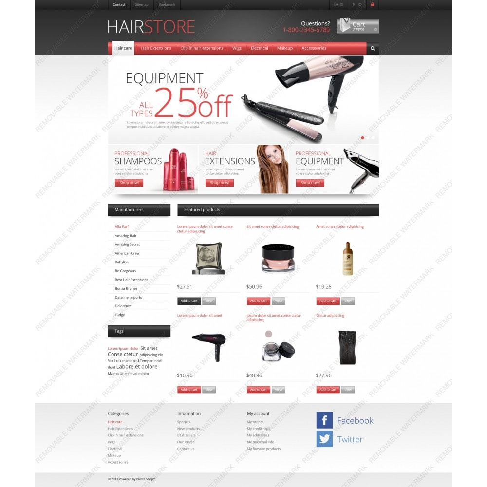 theme - Mode & Chaussures - Responsive Hair Store - 3