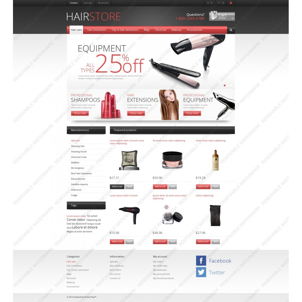 theme - Mode & Chaussures - Responsive Hair Store - 5