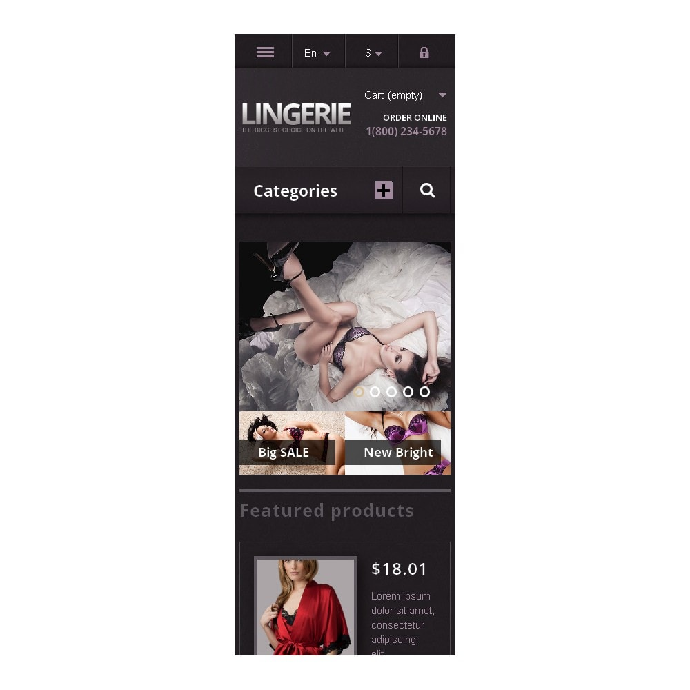 theme - Mode & Chaussures - Responsive Lingerie Store - 9