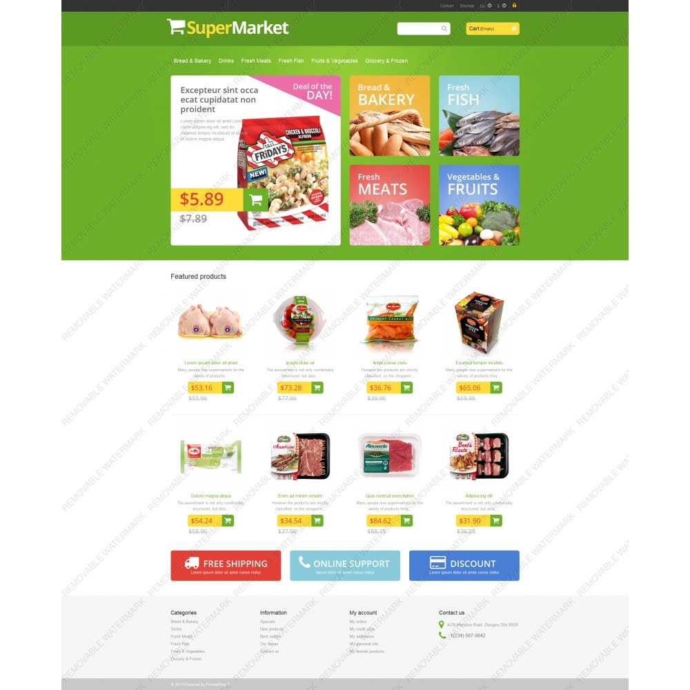 theme - Food & Restaurant - Responsive Supermarket - 5