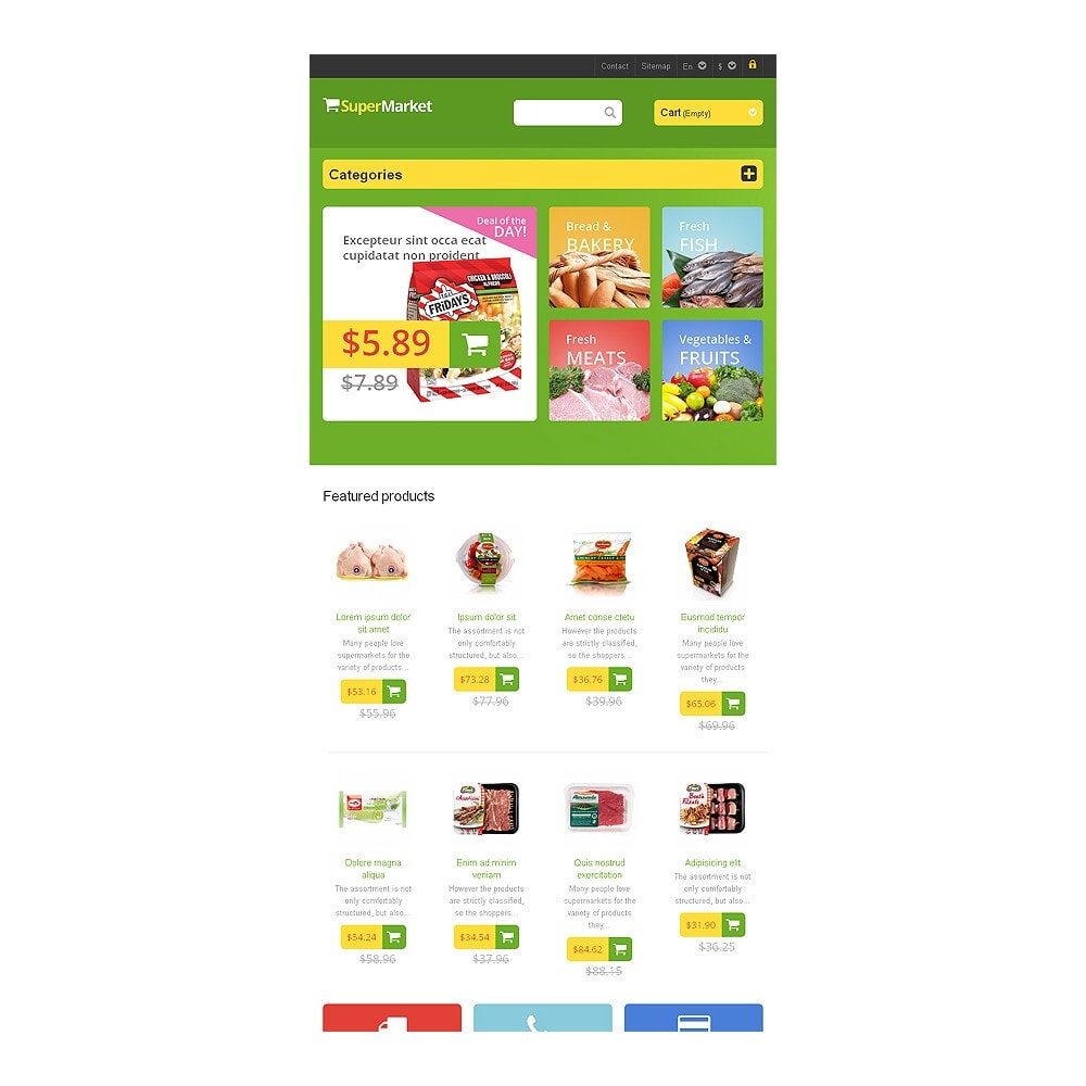 theme - Food & Restaurant - Responsive Supermarket - 7