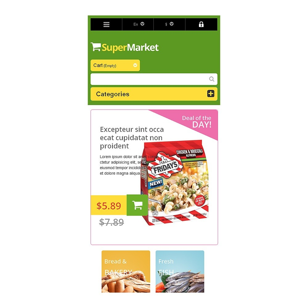 theme - Food & Restaurant - Responsive Supermarket - 8