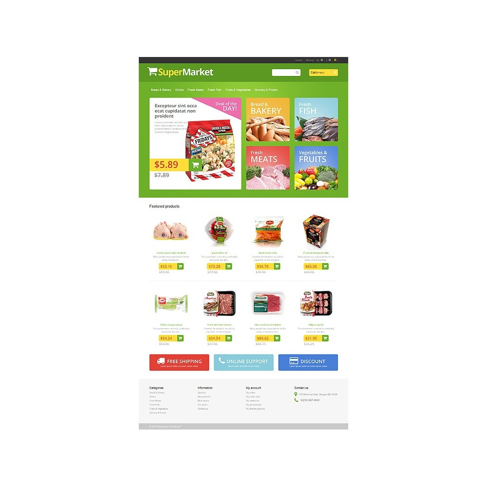 theme - Food & Restaurant - Responsive Supermarket - 10