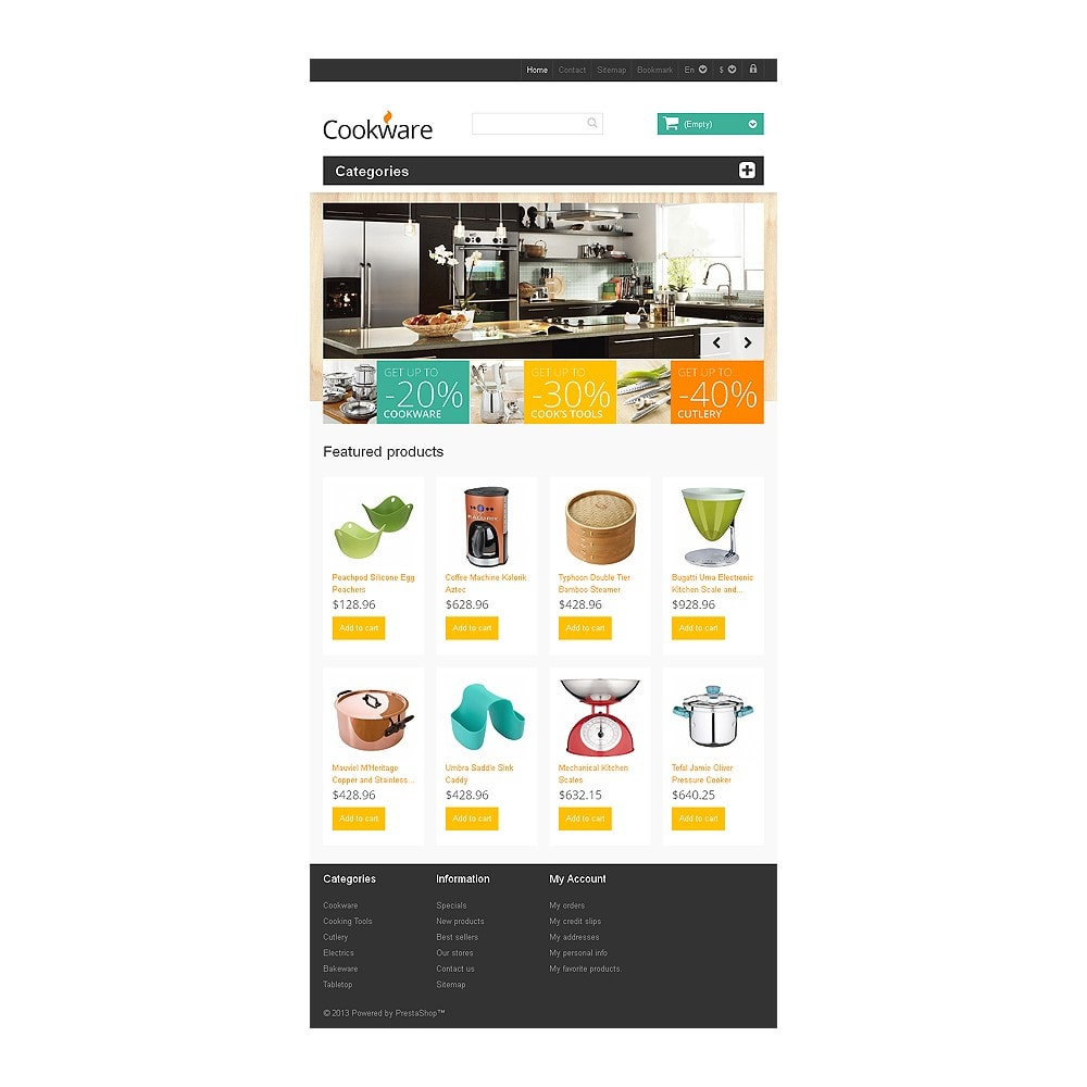 theme - Искусство и Культура - Responsive Cookware Store - 7