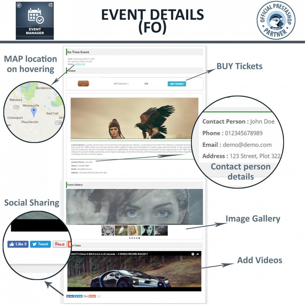 module - Reservation & Rental System - Events Manager, Create events & Sell tickets Online - 3