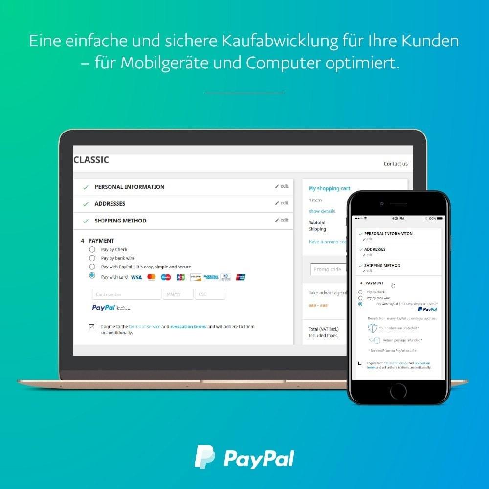 module - Zahlung per Kreditkarte oder Wallet - Offizielles  von PayPal - 1