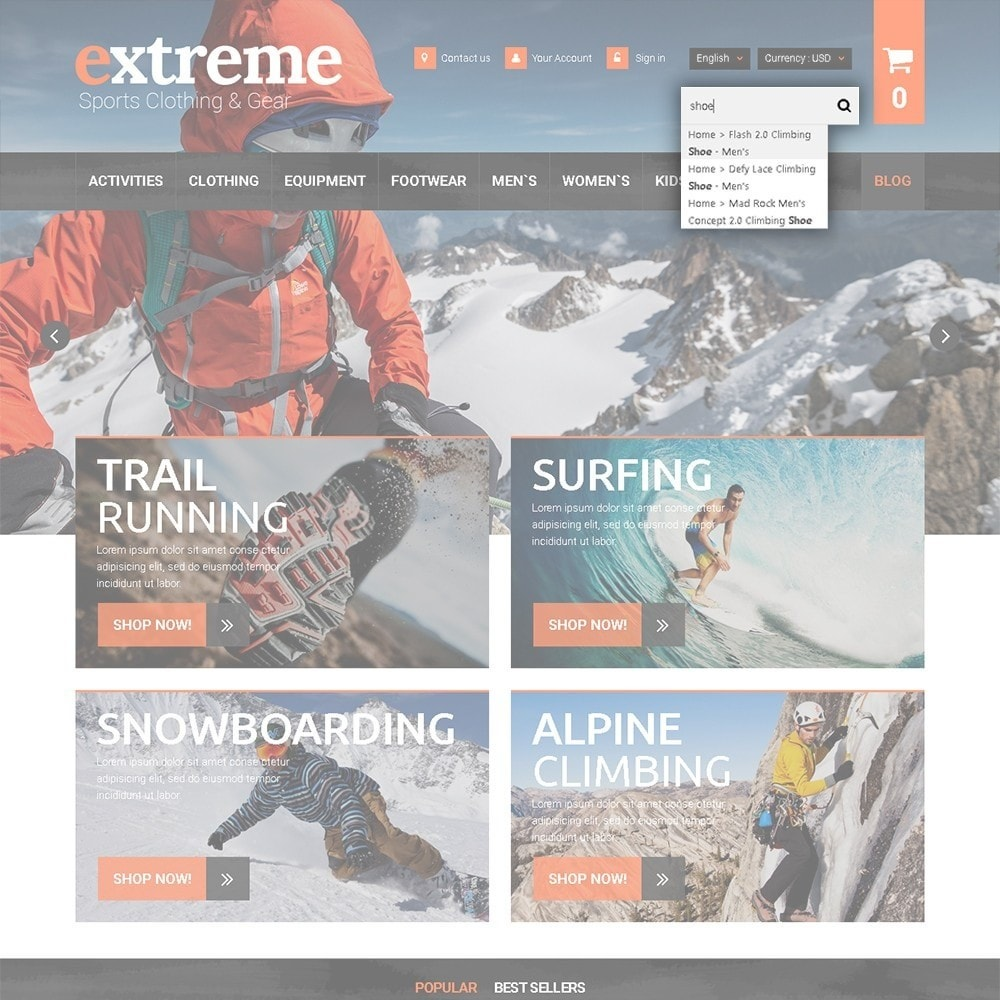 theme - Sports, Activities & Travel - Extreme - Extreme Clothes & Gear - 7