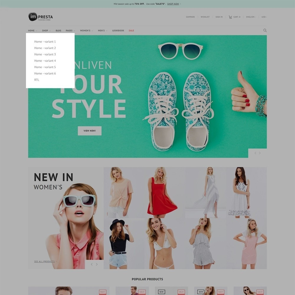 theme - Mode & Chaussures - Impresta - Fashion - 7