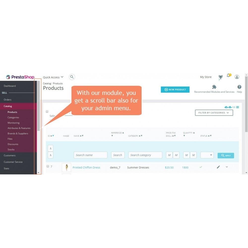 module - Ferramentas de Administração - Admin Menu Scrollbar - 2
