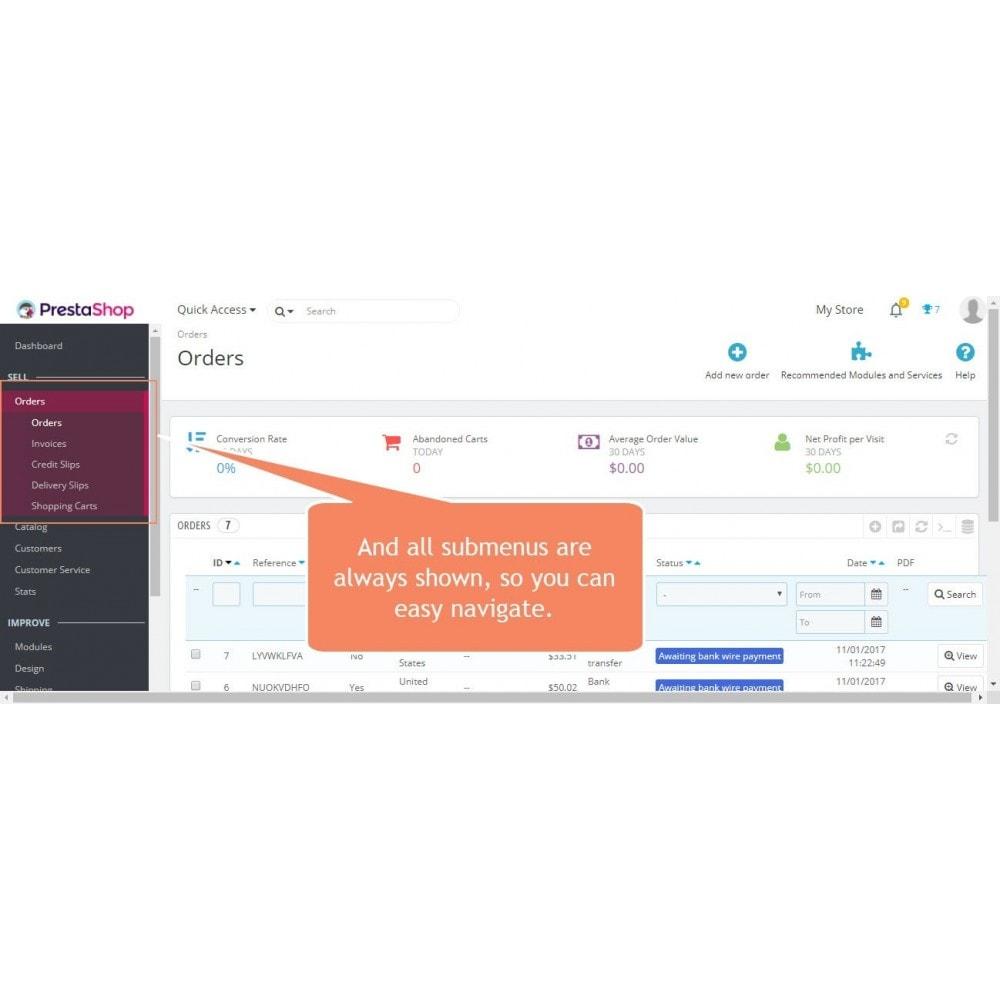 module - Administratieve tools - Admin Menu Scrollbar - 3