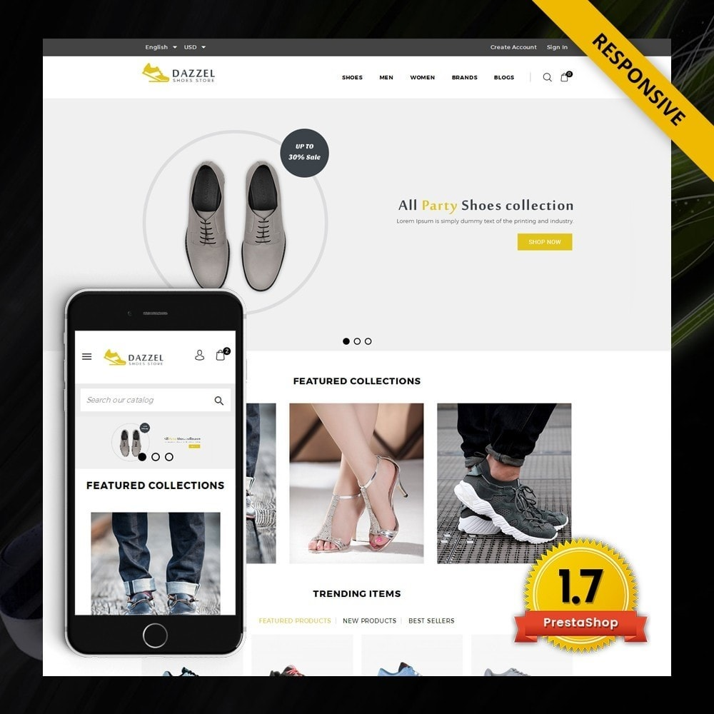 theme - Мода и обувь - Dazzel - Shoes store - 1